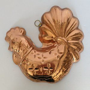 Vintage Decorative Copper Hen Mold Kitchen Jello